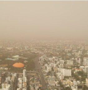 Polvo del Sahara cubre parte del firmamento de la República Dominicana